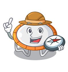 Explorer trampoline icon for cartoon vector