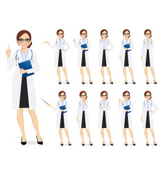 female doctor set vector image
