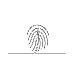 fingerprint one line drawing vector image
