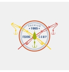 Fishing Camp Logotype vector image