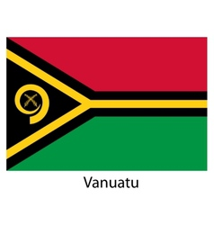 Flag of the country vanuatu vector image