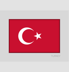 Flag of turkey national ensign aspect ratio 2 to vector