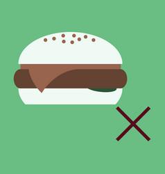 Flat hamburger classic burger american vector