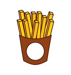 french fries fast food delicious fresh vector image