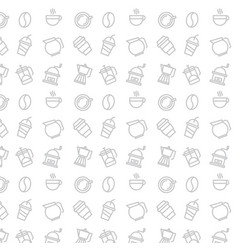 geometric coffee pattern hipster fashion vector image