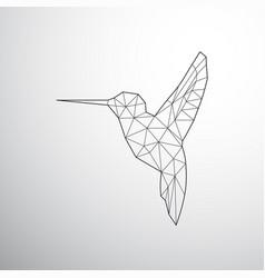Geometrical colibri grey vector