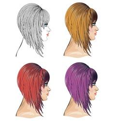 Hair Bob vector image