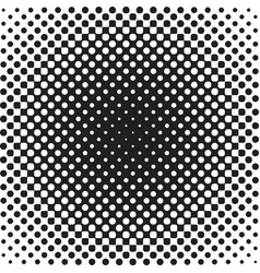 Halftone background radial gradient of dots vector