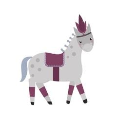 Horse circus breed vector