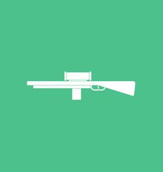 Icon military sniper rifle vector