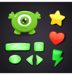 Interface icons set for game design vector image