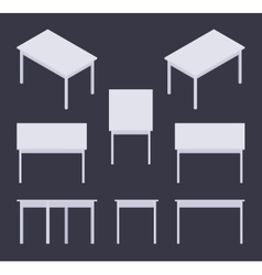 Isometric white table vector image