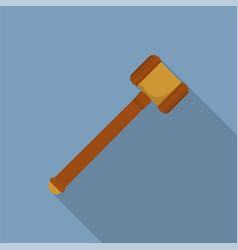 judge hammer icon flat style vector image