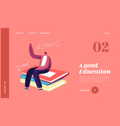 knowledges and education landing page template vector image