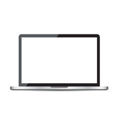 laptop with white screen flat icon computer on vector image