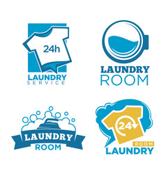 Laundry room emblems vector