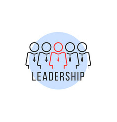 leadership or teamwork like linear people logo vector image