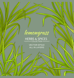 Lemongrass frame vector