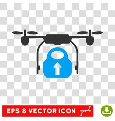 Load Cargo Drone Eps Icon vector image