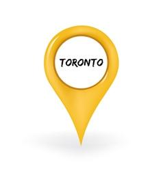 Location Toronto vector