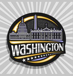 logo for washington vector image