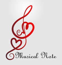 love symbol music notes vector image