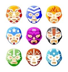 Lucha libre luchador mexican wrestling masks vector