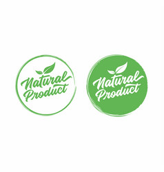 natural product lettering stamp vector image