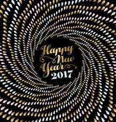 New Year 2017 gold mandala art for card design vector image