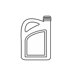 Oil or gasoline canister icon outline style vector