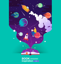 Open book space background school reading and vector