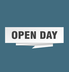 Open day vector