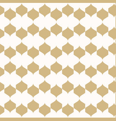 Ornament gold and white geometric texture vector