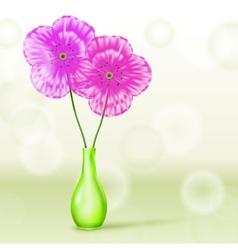 Poppies in vase vector
