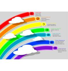rainbow infographics vector image