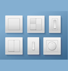 realistic detailed 3d switch set vector image