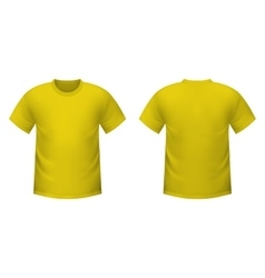 Realistic yellow t-shirt vector image