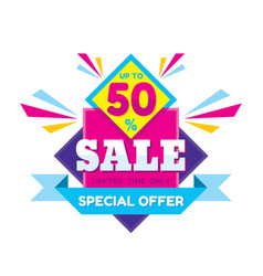 Sale discount up to 50 - concept vector
