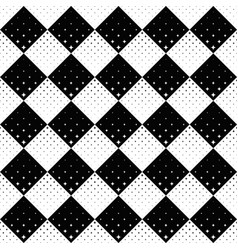 seamless black and white geometrical star pattern vector image