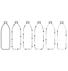 Set icons recycling plastic bottles sign vector