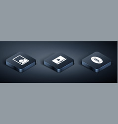 Set isometric picture landscape american football vector