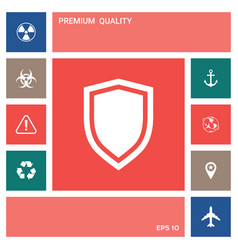 shield protection icon elements for your design vector image