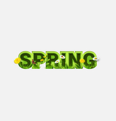 spring sale design with refreshing spring flowers vector image