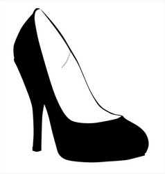 Stiletto heel silhouette vector