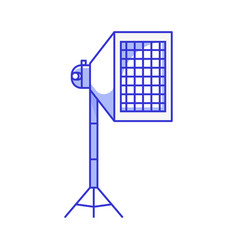 Studio soft box with grid icon vector