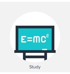 study icon vector image