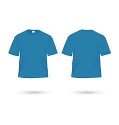 T shirt blue vector