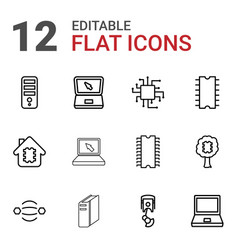 tech icons vector image