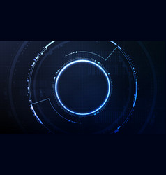 technological future interface hud platform vector image