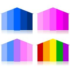 Tonal houses vector